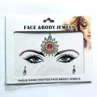 WNY-804-10 Face Jewels Crystal sticker