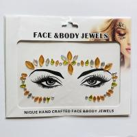 WNY-804-13 Temporary Tattoo Stickers Acrylic Crystal Glitter Stickers Waterproof Face Jewels