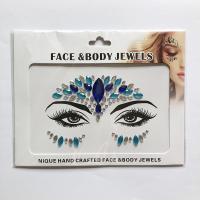 WNY-804-3 Eye gilttle Rhinestone self Adhesive Jewels Face sticker