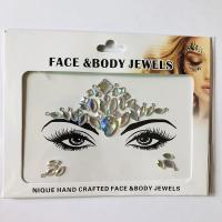 WNY-804-8 Eye gilttle Rhinestone self Adhesive Jewels Face sticker