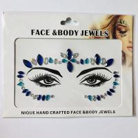 WNY-804-9 Eye gilttle Rhinestone self Adhesive Jewels Face sticker
